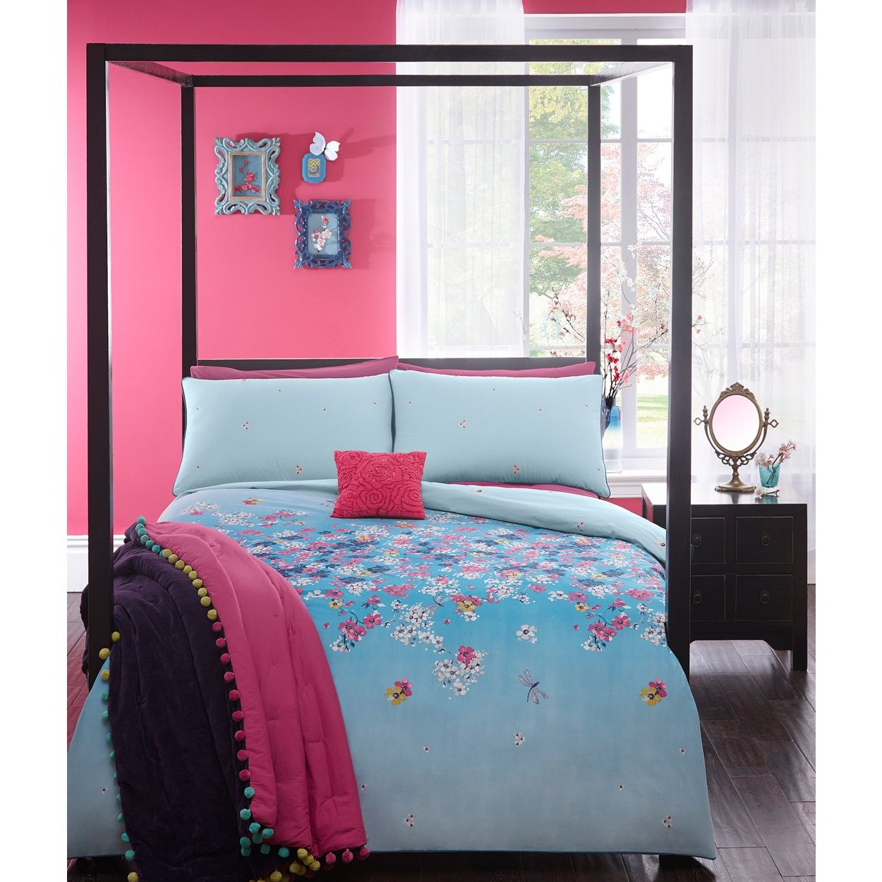 Butterfly Home By Matthew Williamson Blue U0027Cherry Blossomu0027 Bedding Set