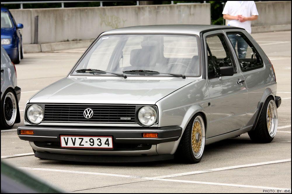 Vw Mk2 Golf Diesel On Bbs Rms Autos Vw Mk1 Volkswagen