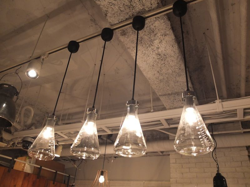 Conical Flask Lights Contemporary Interior Design