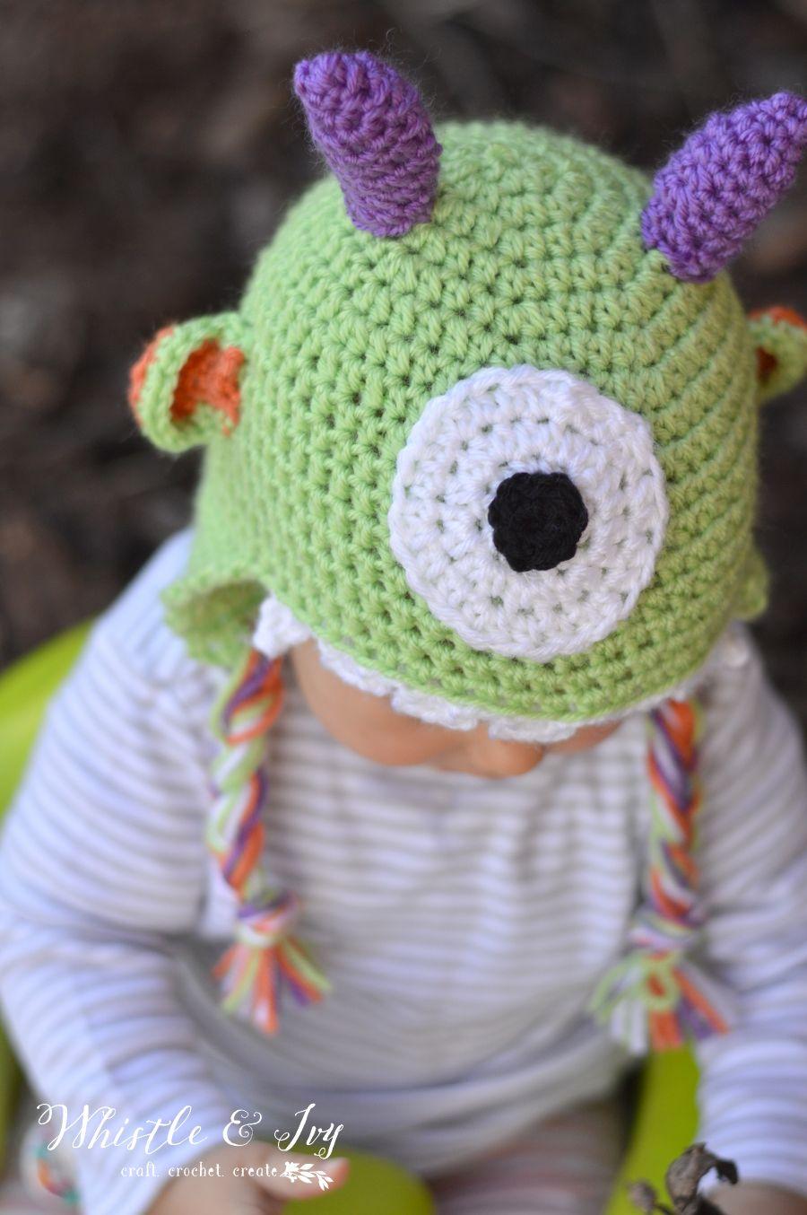 DIY: littlest monster baby hat #Crochet
