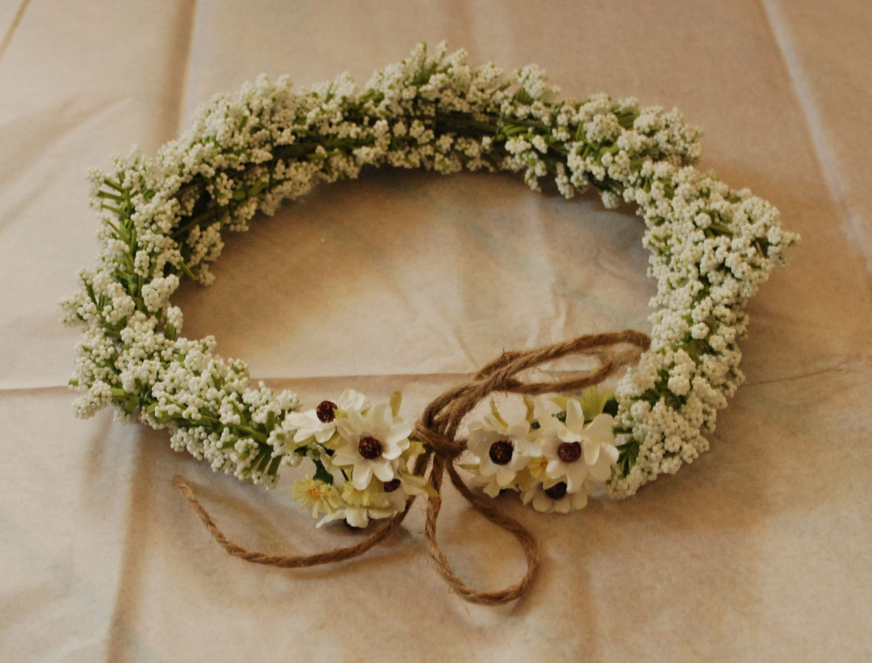 Corona de pajes boda rustica boho chic corona de - Coronitas de flores ...
