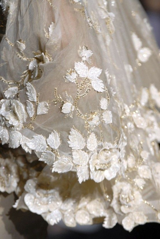 Valentino - Love the detailing! We're seeing a lot of this translated to the #MotheroftheBrideDresses. BEAUTIFUL!