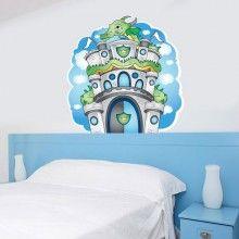 Boy Castle Head Board Print Wall Decal Kit 01