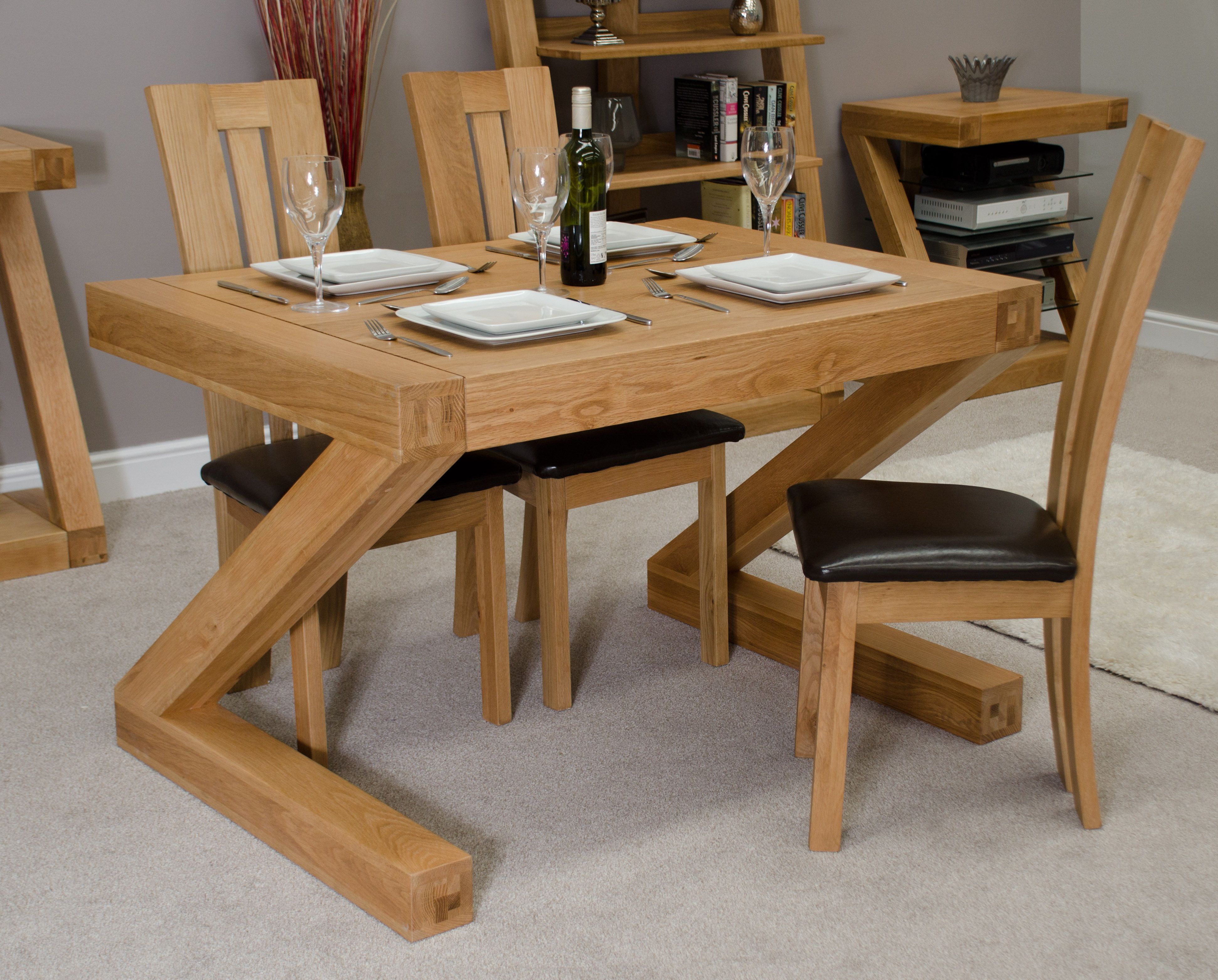 Awesome Zen Dining Room Design With Oak Dining Table And Chairs Delectable Space Saver Dining Room Table Inspiration Design