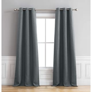 Bella Luna Henley Room Darkening 96 Inch Grommet Curtain Panel