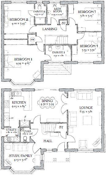 Dream House Floor Plans Redrow Balmoral House Floor Plans House Plans New House Plans