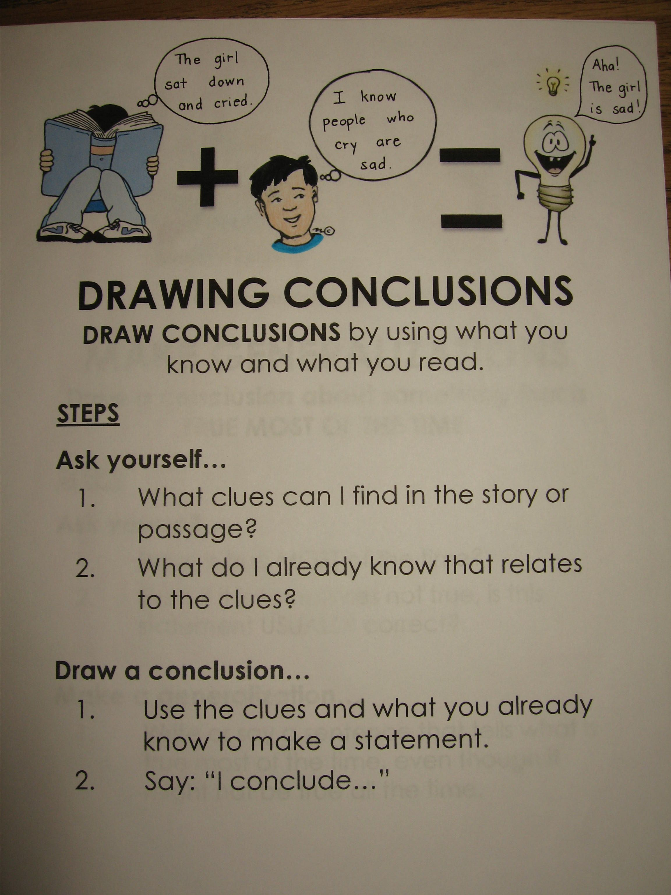 Drawing Conclusions Margaret Cho Hoang Upper Elementary Reading Inference Activities Elementary Reading [ 3072 x 2304 Pixel ]