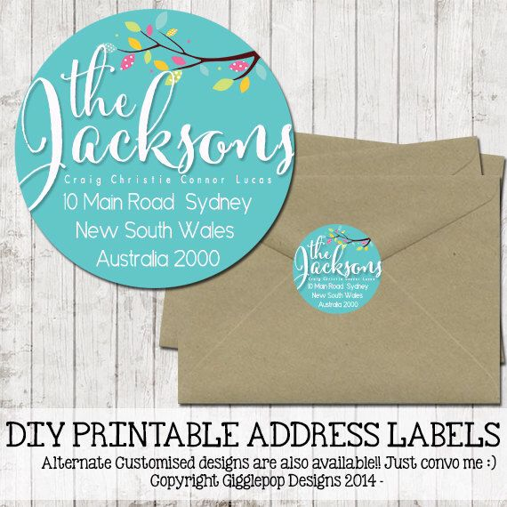 Diy 1 1 2 printable return address labels sticker 1 5 inch round teal tiffany blue robins egg personalised stationary by gigglepopdesigns on etsy
