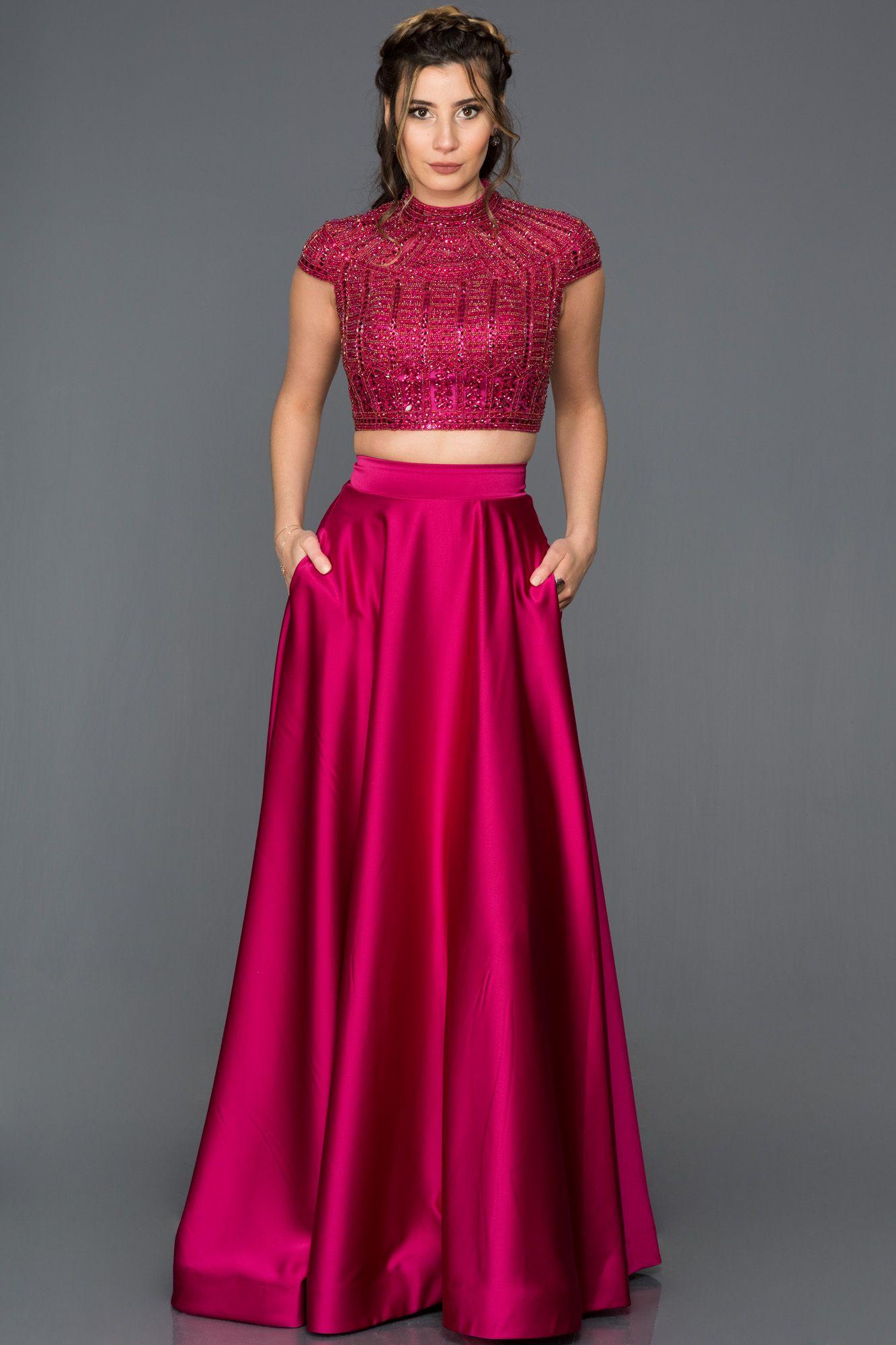 Fusya Ozel Tasarim Iki Parca Abiye F331 The Dress Elbise Modelleri Bohem Elbiseler