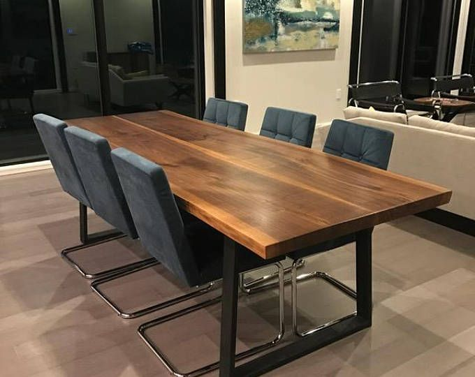 Live Edge Dining Table, Live Edge Walnut Table on