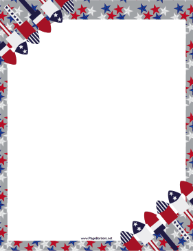 Free American 4th Of July Border Stationery Paper Free Printable Patriot Stationar Printable Stationery Writing Paper Printable Free Free Printable Stationery