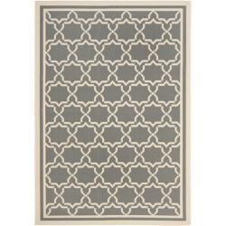 """Dark Grey/ Beige Indoor Outdoor Polypropylene Rug (8' x 11' 2"""")   Overstock.com Shopping - Great Deals on Safavieh 7x9 - 10x14 Rugs"""