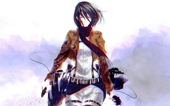 Download Wallpapers 4k Attack On Titan Mikasa Ackerman