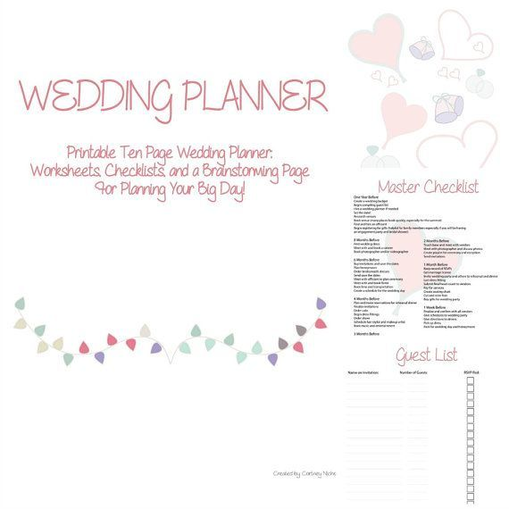 Wedding Planner E-Book 12 Page PDF Download by HappyCoupleShop | Wedding planner, Wedding ...