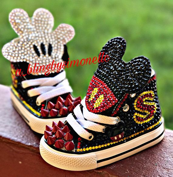 dcf332f9e78a1 Zapatillas Mickey Mouse personalizados Mickey Mouse Shoes