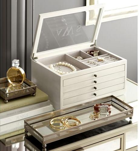 Jewelry box | Leather jewelry box, Dresser with mirror ...