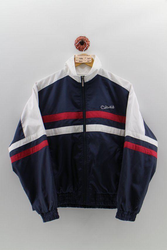 CHRIS EVERT Windbreaker Jacket Medium Vintage 90's Chris