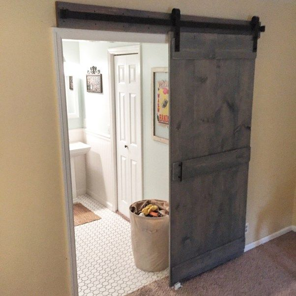 Diy Interior Sliding Barn Door With Goodbye Normal And National