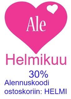 Ystävät hyvät! 30% alennus koodilla HELMI. Jaa ystäville ja poiketkaa yhdessä osoitteeseen www.korulipas.fi