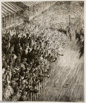 The Finishing Line Of The Derby By Gustave Dore 1832 1883 France