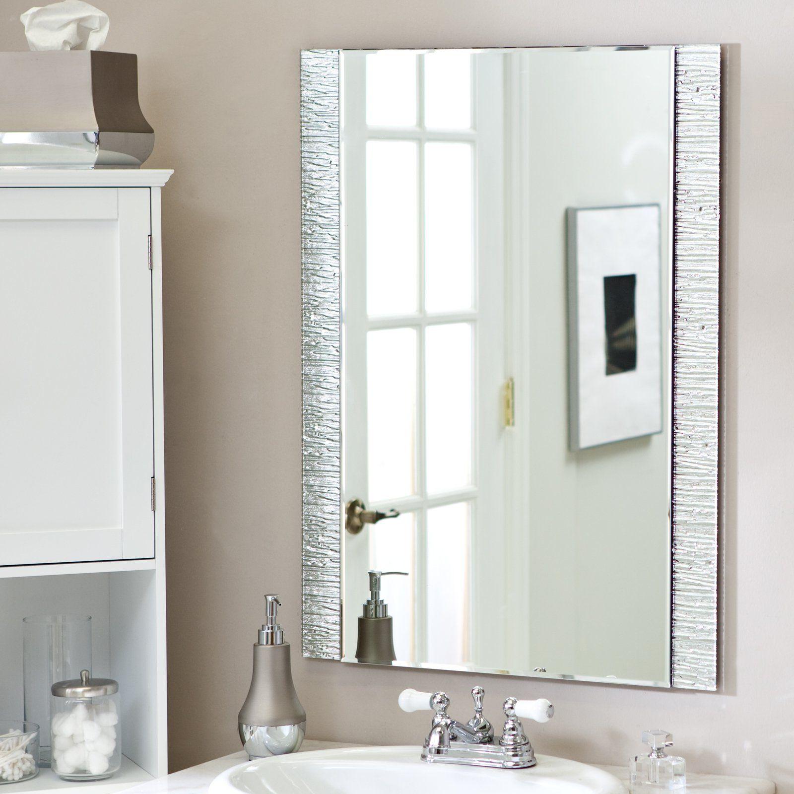 So Montieren Sie Rahmenlose Abgeschragten Spiegel Abgeschragte Rahmenlose Spiegel Eine Der Wirtschaftlichsten Mo Badezimmer Dekor Diy Diy Badezimmerspiegel