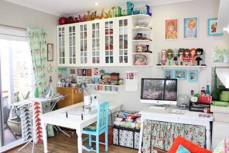 Art Gallery Fabrics The Creative Blog Ikea Sewing Rooms Sewing Room Design Sewing Room Inspiration Living room to sewing room