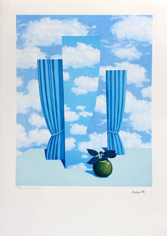 """RENE MAGRITTE Art Poster or Canvas Print /""""Song of the Storm /"""""""