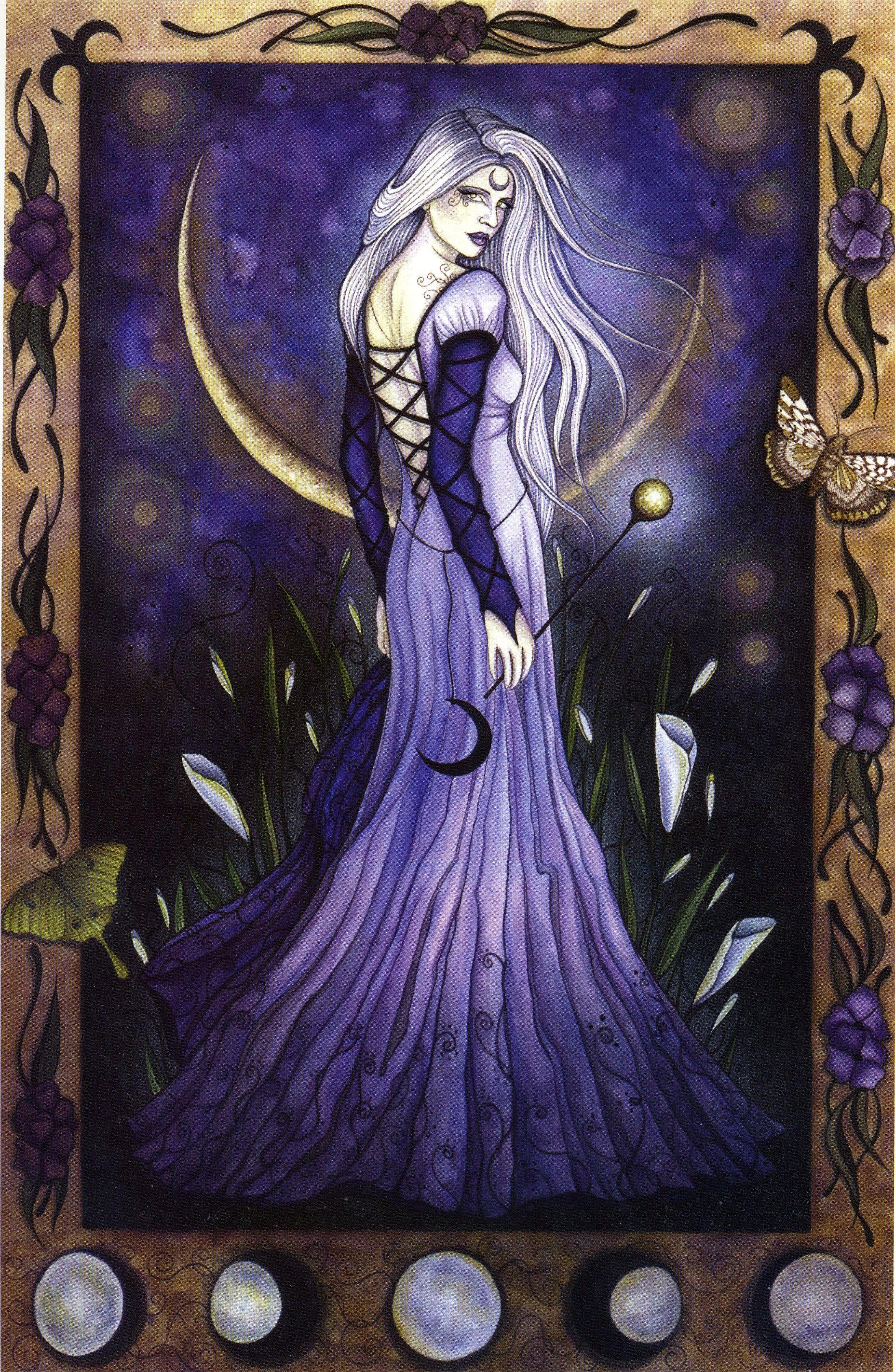 Maiden Moon Jessica Side Of Leg Tattoo
