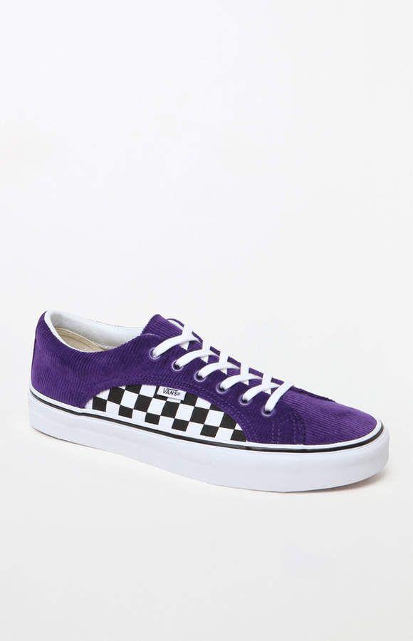 Vans Lampin Purple \u0026 Checkerboard Shoes