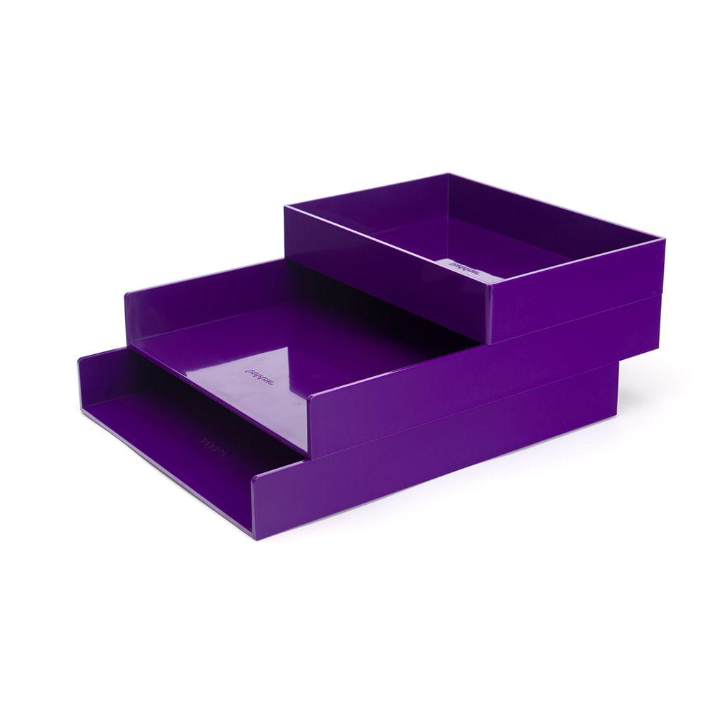 Surprising Purple Letter Trays Set Of 2 Desk Organization Trays Download Free Architecture Designs Oxytwazosbritishbridgeorg