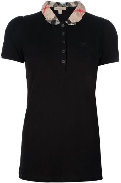 cb7c18aa9319 BURBERRY Check Collar Polo Shirt - Lyst | Burberry ♥ | Burberry ...