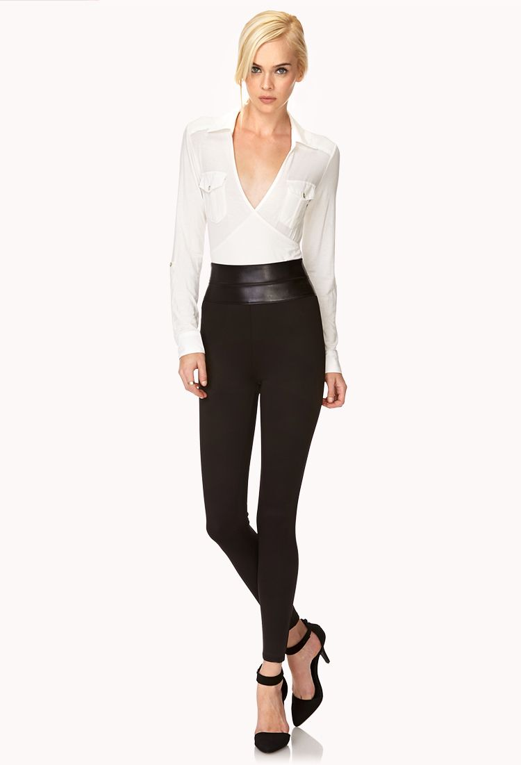 Standout Faux Leather Leggings | FOREVER21 - 2000125764