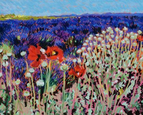 Poppy Dance, pastel - Joan Teed