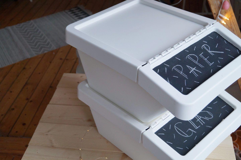 IKEA HACK: Stilvolle Mülltrennung in der Küche  Mülltrennung