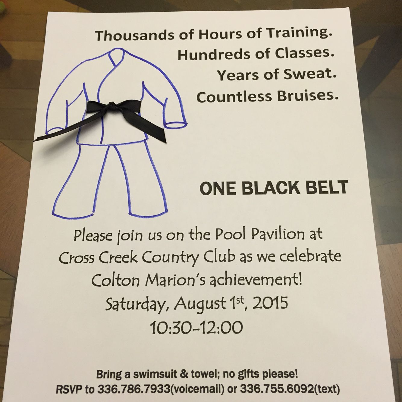 Black belt party invitation | Wendy\'s World of Chaos | Pinterest