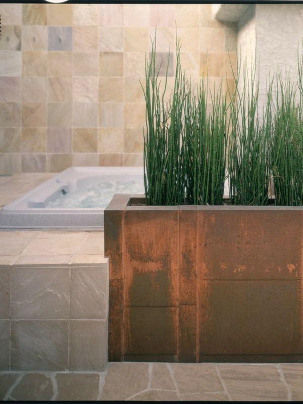 badezimmer design grün originell pflanzen   badezimmer   pinterest ... - Pflanzen Für Badezimmer