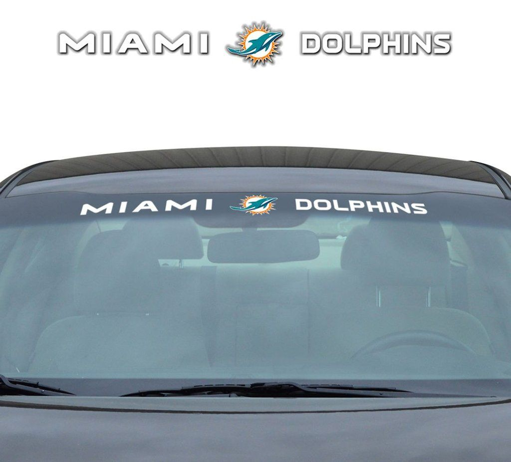 Miami Dolphins 35 X4 Windshield Decal Bear Decal Windshield Tennessee Titans [ 926 x 1024 Pixel ]