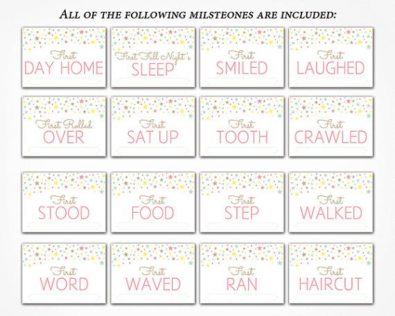 30 Baby Milestone Cards 1 Year of Baby Milestones Personalisable for Photos