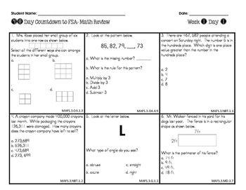 Florida Math Standards 6th Grade Answer Key