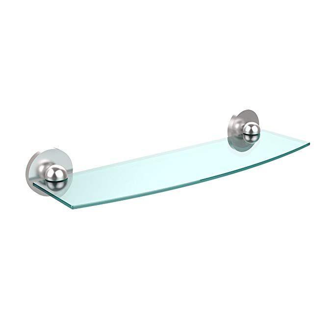 Allied Brass P1033/18-SBR Triple Corner Glass Shelf Satin Chrome