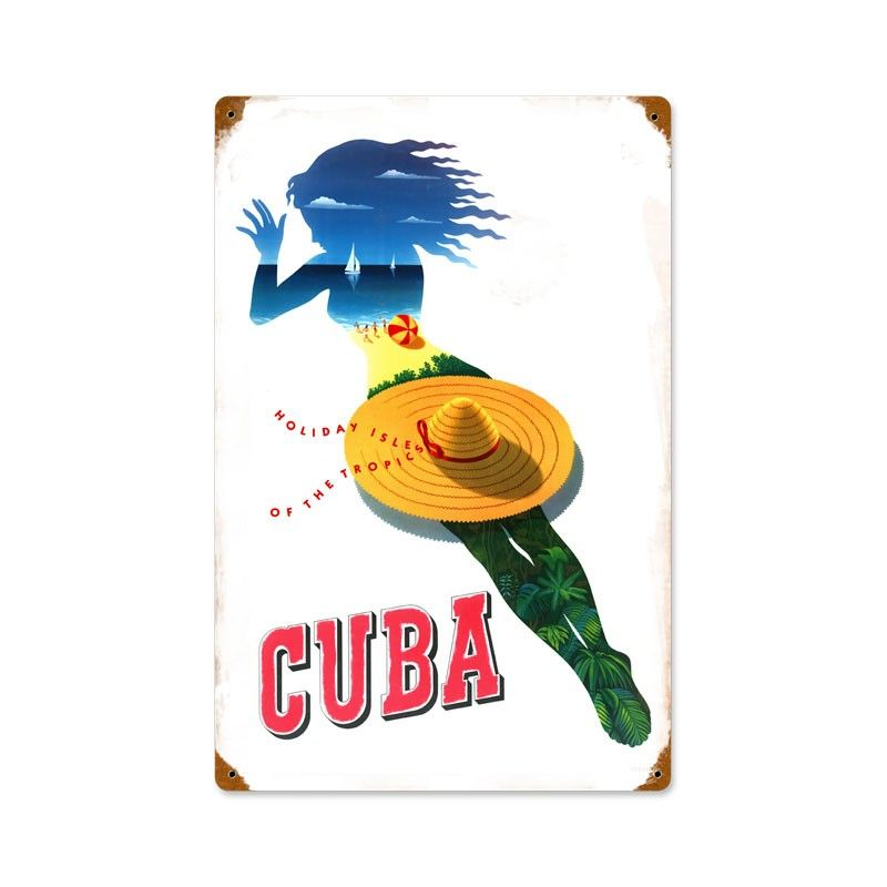 Vintage and Retro Wall Decor - JackandFriends.com - Retro Cuba  Metal Sign 12 x 18 Inches, $39.97 (http://www.jackandfriends.com/retro-cuba-metal-sign-12-x-18-inches/)