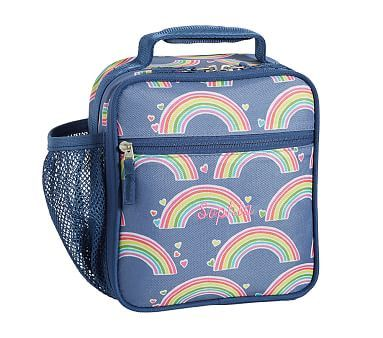 Classic Lunch Bag, Mackenzie Blue Rainbow | Baby gifts ...