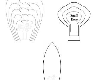 Pdf Set Of  Flower Templates And  Leaf Template Giant Paper