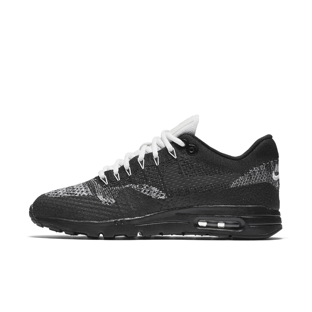 newest 8813f 3161a Nike Air Max 1 Ultra Flyknit Women s Shoe Size 7 (Black) - Clearance Sale