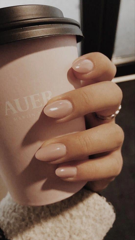 Acrylic Almond Nails Short Almond Nails Long Almond Nails 2019 Natural Almond Nail Color Trends Pink Nails Nails Inspiration Pretty Nails