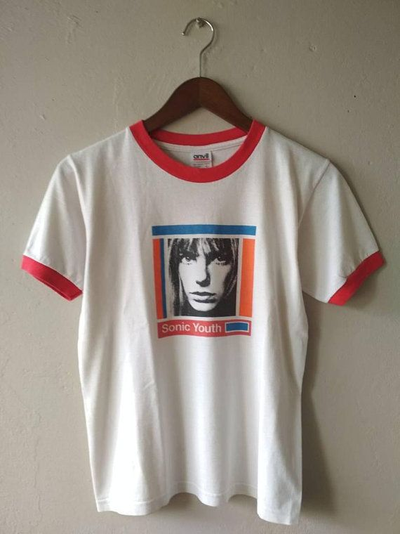 07419ef4 Vintage 90s Sonic Youth Kim Gordon Post Punk Ringer T-Shirt ...