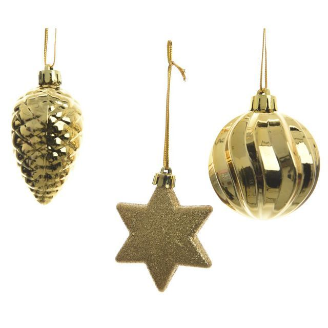 Bombka Mix 6 Cm 3 Szt Kaemingk Kaemingk Christmas Ornaments Holiday Decor