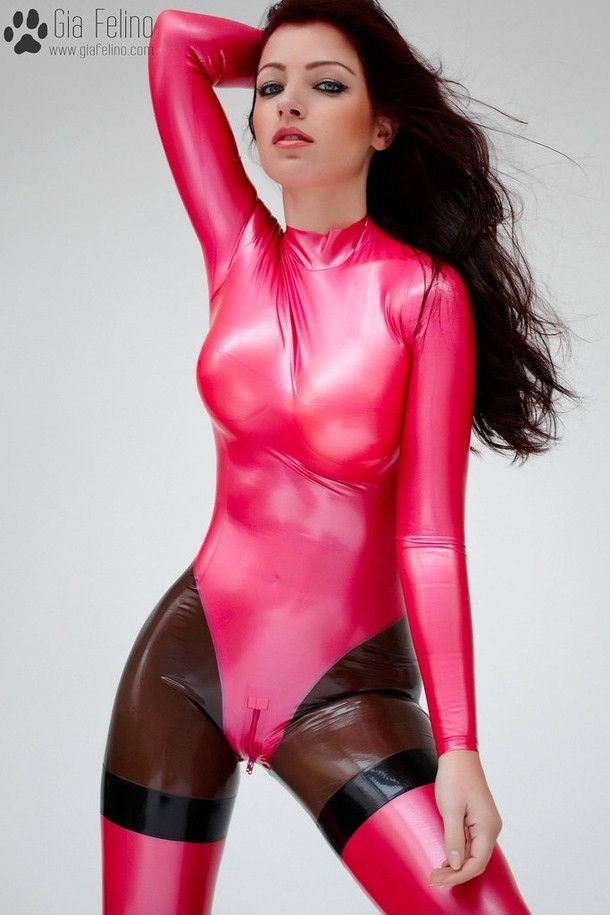 Gia Felino Pink Latex Catsuit Yes Pinterest Latex