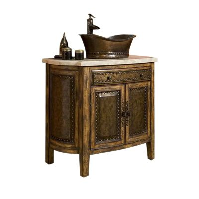 Ambella Home 06637 110 301 Rustico Vessel Sink Chest Rustico Vessel Sink  ChestHammered Copper