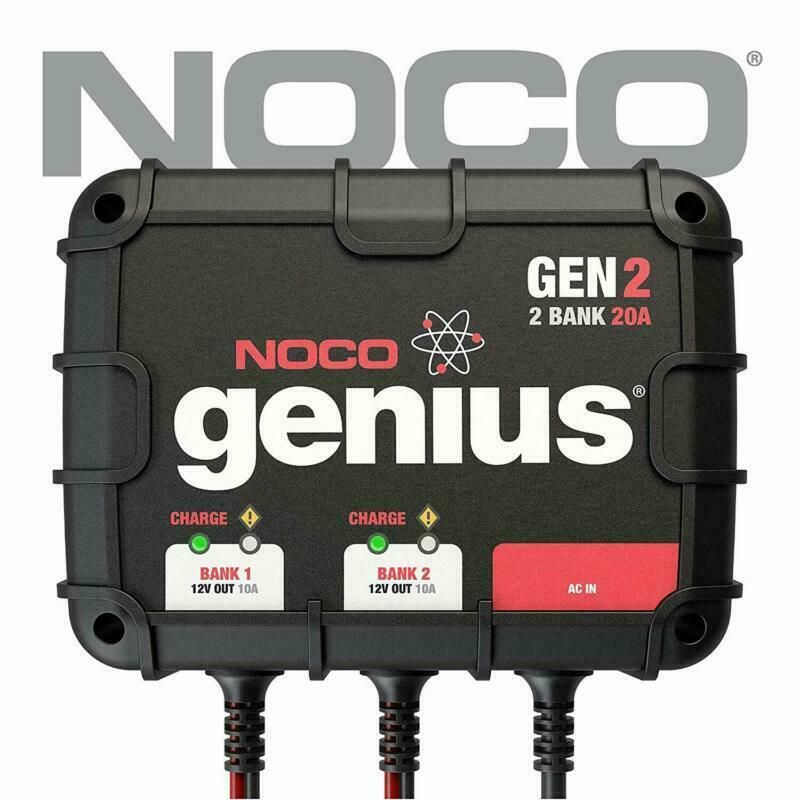 eBay Advertisement) NOCO Genius GEN2 20 Amp 2 Bank On Board